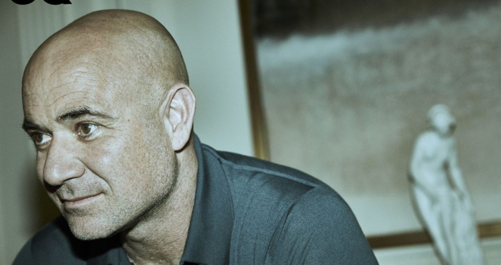 """I'm not afraid anymore."" Andre Agassi is telling"