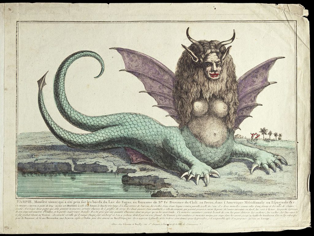 The lord of the sea and the islands of the Harpies
